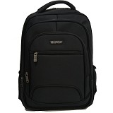 REAL POLO Tas Ransel [5756] - Hitam - Notebook Backpack